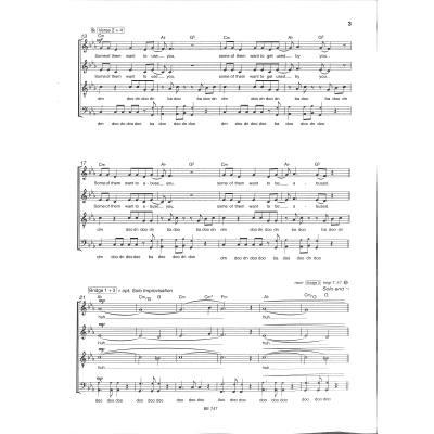 Chorpartitur Bossehits A Capella SATB Erlkönig für gemischten Chor