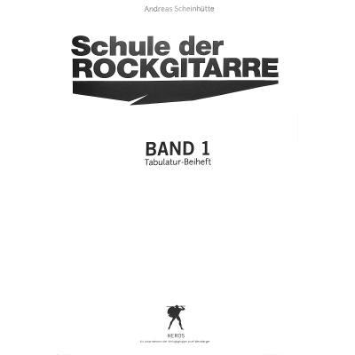 Schule der Rockgitarre 1   Begleitheft zum Musikunterricht
