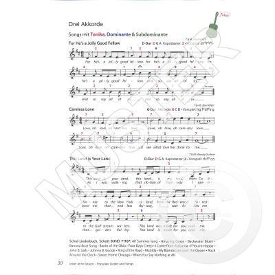 Jeder Lernt Gitarre Populäre Lieder Und Songs Notenbuchde