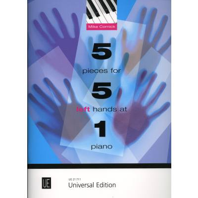 5 pieces for 5 left hands at 1 Piano