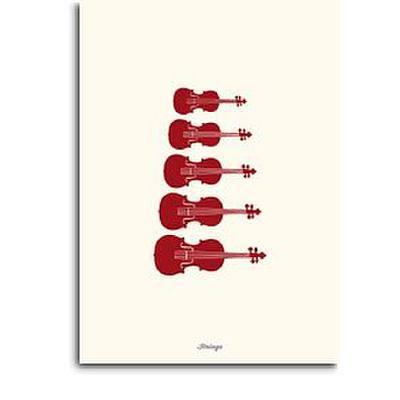 Doppelkarte Streichinstrumente