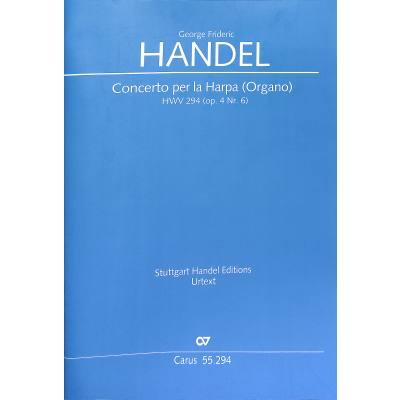 Konzert B-Dur op 4/6 HWV 294