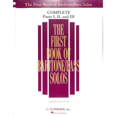 FIRST BOOK OF BARITONE/BASS SOLOS 1 | First boo...