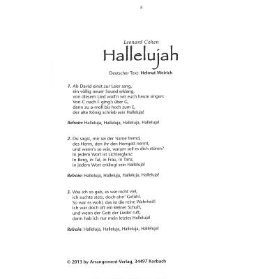 Deutscher Text Hallelujah