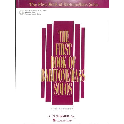 FIRST BOOK OF BARITONE / BASS SOLOS