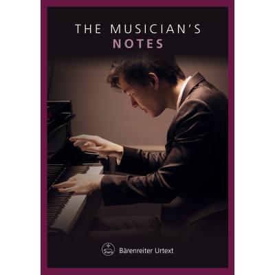 The musician´s notes | Notizbuch Klavier