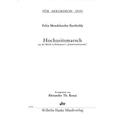 HOCHZEITSMARSCH OP 61/9 (AUS SOMMERNACHTSTRAUM)