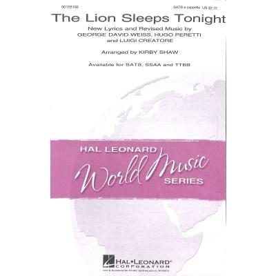 the-lion-sleeps-tonight, 2.95 EUR @ notenbuch-de