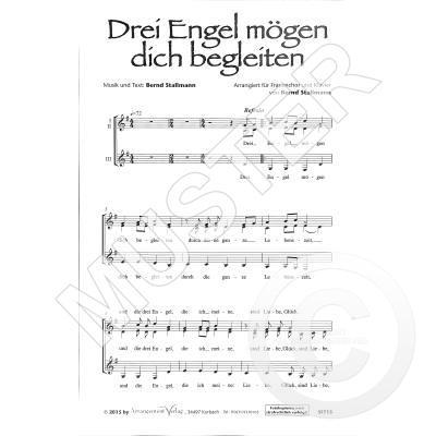 3 Engel Mögen Dich Begleiten Notenbuch De