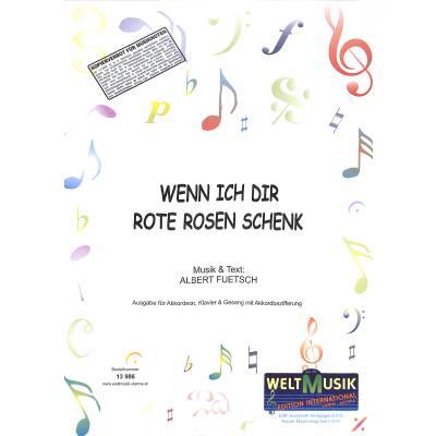 wenn-ich-dir-rote-rosen-schenk, 5.50 EUR @ notenbuch-de