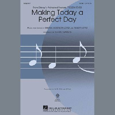 Making Today A Perfect Day (from Frozen Fever) (arr. Roger Emerson)