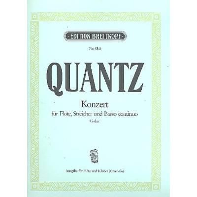 Quantz Konzert Es-dur Für Horn Streicher Und Basso Continuo Partitur