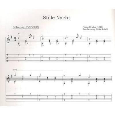 Oh Tannenbaum Gitarrennoten.Open Tuning Weihnachten Leichte Arrangements Für Gitarre Solo Inkl Tab