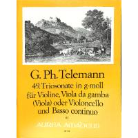 TRIOSONATE 49 G-MOLL TWV 42:G1