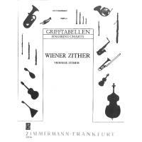 Grifftabelle Zither (Wiener Stimmung)