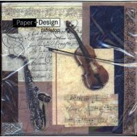 Servietten Violine + Saxophon