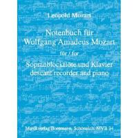 Notenbuch für Wolfgang Amadeus Mozart