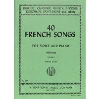 40 französische Lieder 1