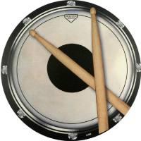 Mousepad Schlagzeug Drum Sticks (rund)