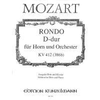 RONDO D-DUR KV 412 (386B) - HRN ORCH
