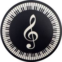 Mousepad Violinschlüssel + Tastatur (rund)