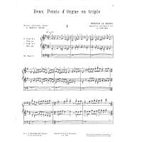 2 points d'orgue en triple