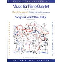 Musik für Klavierquartett für Anfänger