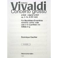 CONCERTO GROSSO D-MOLL OP 3/8 RV 522