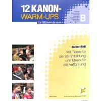 12 KANON WARM UPS FUER BLAESERKLASSEN