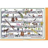 Doppelkarte Bauernkantate (Bach)