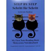 Step by step - Schritt für Schritt | Mein erstes Notenlesebuch