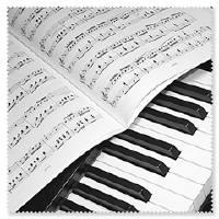 Brillenputztuch Klavier Tastatur