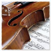 Brillenputztuch Geige