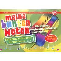 Meine bunten Noten für Klavier Keyboard Melodica + Triola | Bekannte + beliebte Kinderlieder
