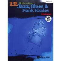 12 medium easy Jazz Blues + Funk Etudes