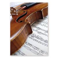 Postkarte Geige