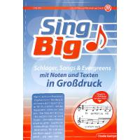 Sing big | Schlager Songs + Evergreens mit Noten und Texten in Grossdruck