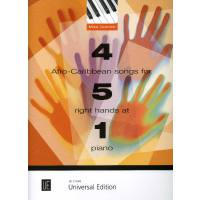 4 afro caribbean songs for 5 right hands at 1 Piano