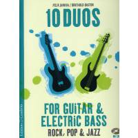 10 Duos for Guitar + Electric Bass