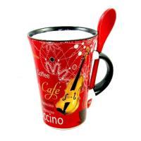 Cappuccino Tasse Geige mit Löffel