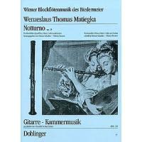 Wenzeslaus Thomas Matiegka Gitarre Kammermusik Notturnoop.25