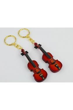 Schlüsselanhänger Geige holz