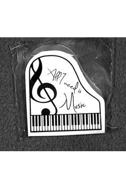 Radiergummi Klavierform