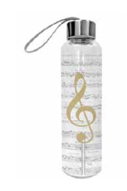 Glasflasche Violinschlüssel