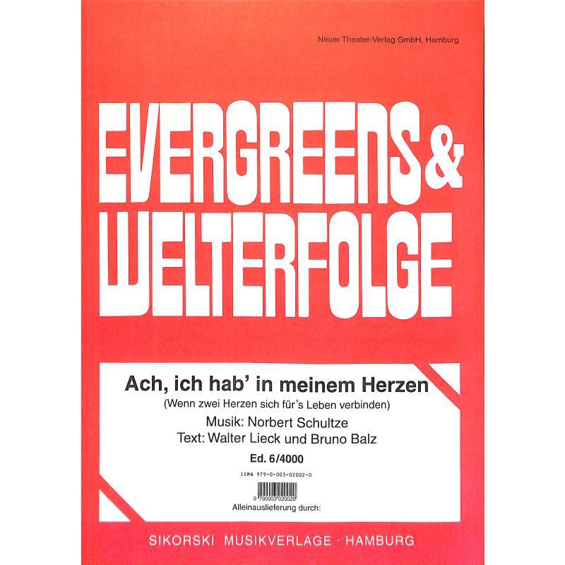 Titelbild für SIK 6-4000 - ACH ICH HAB IN MEINEM HERZEN
