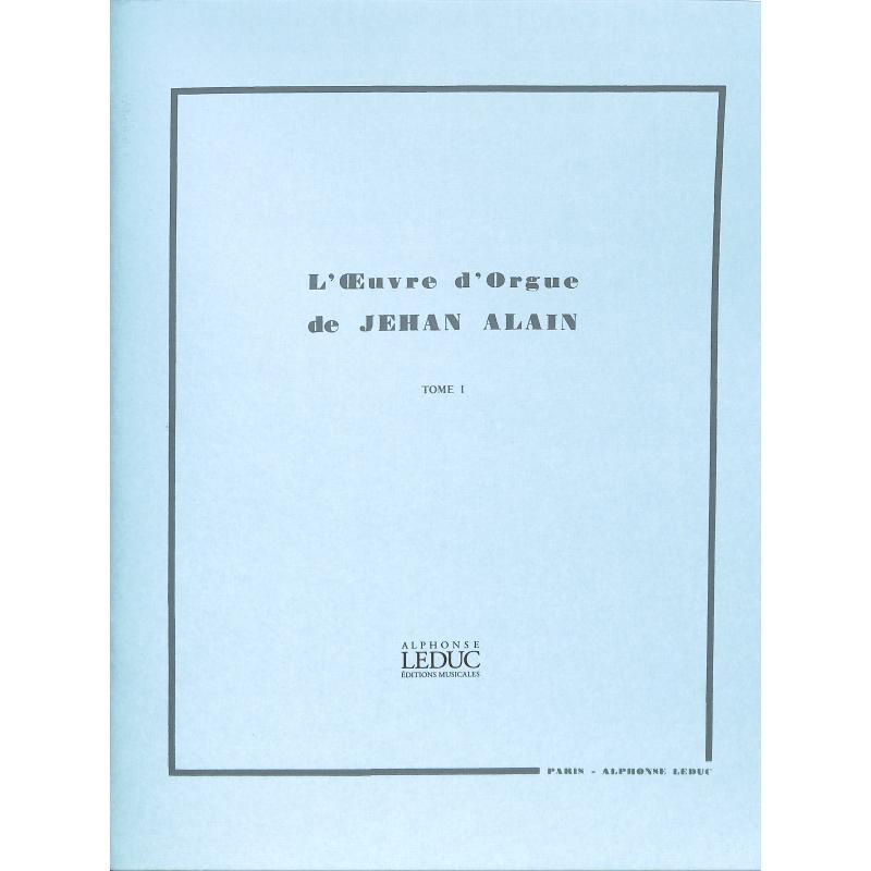 Titelbild für AL 20091 - L'OEUVRE D'ORGUE 1