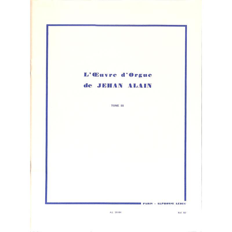Titelbild für AL 20184 - L'OEUVRE D'ORGUE 3