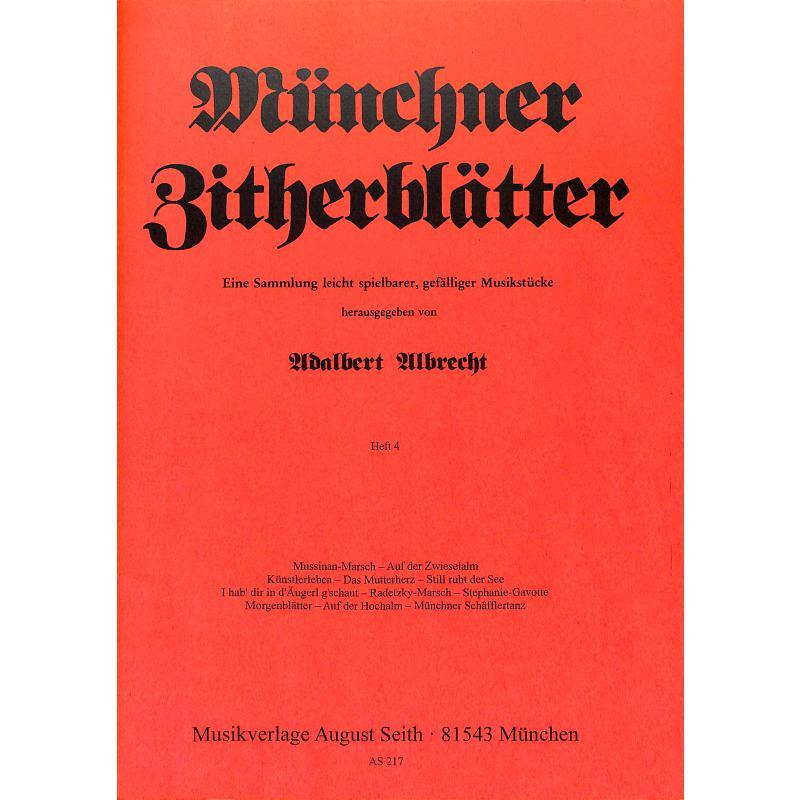 Titelbild für AS 217 - MUENCHNER ZITHERBLAETTER 4