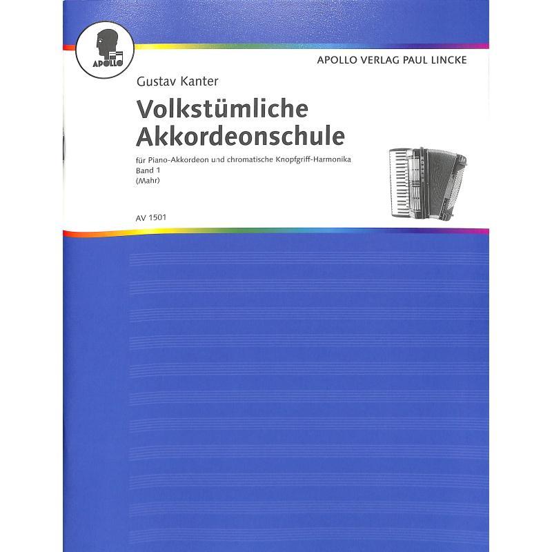 Titelbild für AV 1501 - VOLKSTUEMLICHE AKKORDEON SCHULE 1