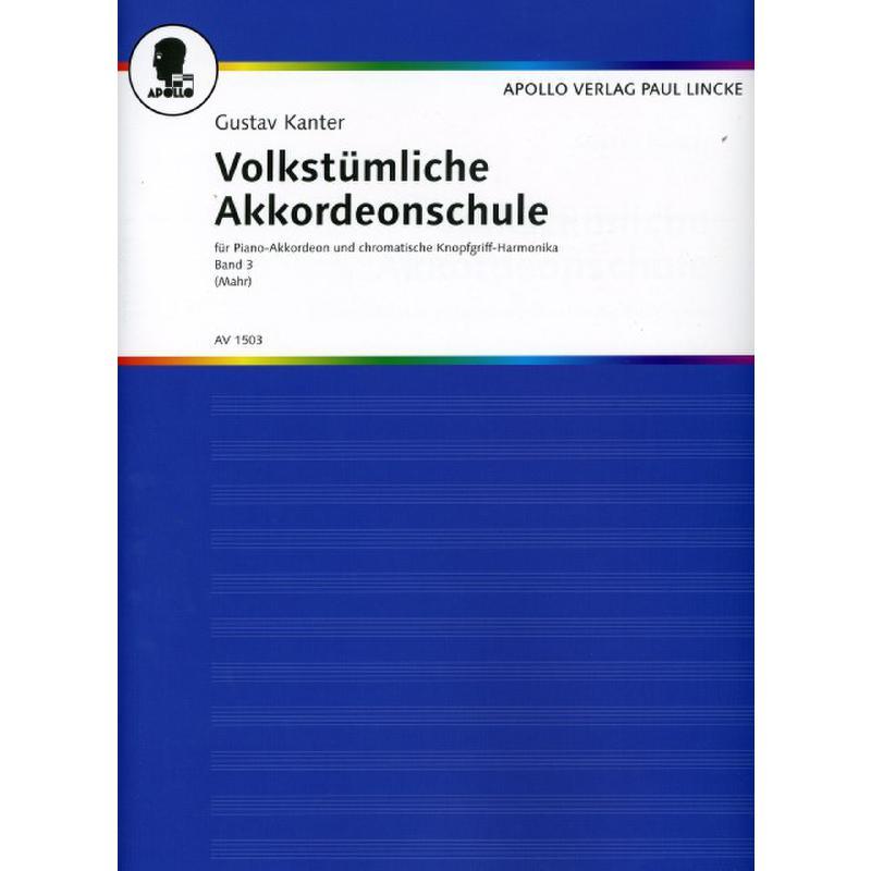 Titelbild für AV 1503 - VOLKSTUEMLICHE AKKORDEON SCHULE 3